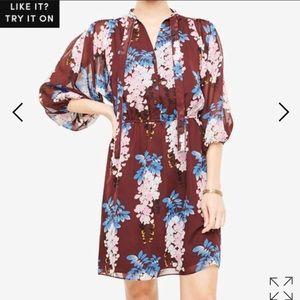 NWT Ann Taylor burgundy floral dress